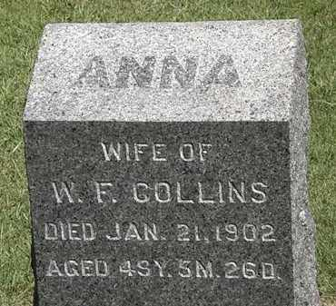 COLLINS, ANNA - Marion County, Ohio | ANNA COLLINS - Ohio Gravestone Photos