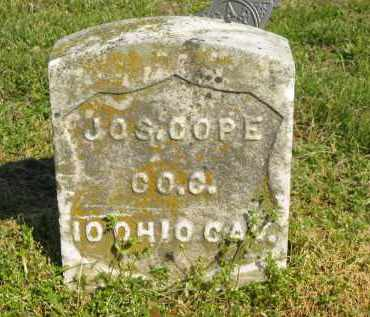 COPE, JOS. - Marion County, Ohio | JOS. COPE - Ohio Gravestone Photos