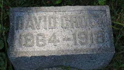 CROCK, DAVID - Marion County, Ohio | DAVID CROCK - Ohio Gravestone Photos