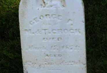 CROCK, GEORGE F. - Marion County, Ohio | GEORGE F. CROCK - Ohio Gravestone Photos