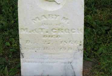CROCK, MARY M. - Marion County, Ohio | MARY M. CROCK - Ohio Gravestone Photos