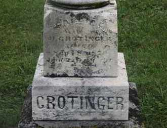 CROTINGER, H. - Marion County, Ohio | H. CROTINGER - Ohio Gravestone Photos