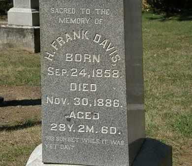 DAVIS, H. FRANK - Marion County, Ohio | H. FRANK DAVIS - Ohio Gravestone Photos