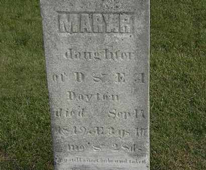 DAYTON, MARY R. - Marion County, Ohio | MARY R. DAYTON - Ohio Gravestone Photos