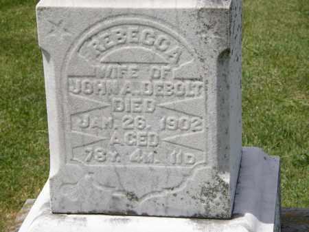 DE BOLT, REBECCA - Marion County, Ohio | REBECCA DE BOLT - Ohio Gravestone Photos