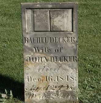 DECKER, RACHAEL - Marion County, Ohio | RACHAEL DECKER - Ohio Gravestone Photos