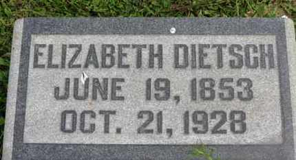 DIETSCH, ELIZABETH - Marion County, Ohio | ELIZABETH DIETSCH - Ohio Gravestone Photos