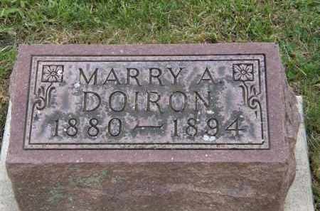DOIRON, MARRY A - Marion County, Ohio | MARRY A DOIRON - Ohio Gravestone Photos