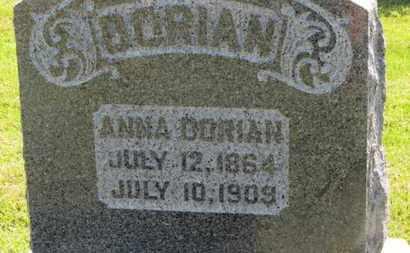 DORIAN, ANNA - Marion County, Ohio | ANNA DORIAN - Ohio Gravestone Photos