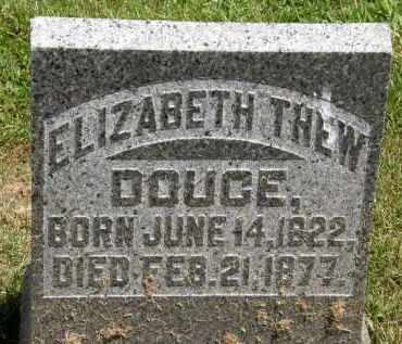 THEW DOUCE, ELIZABETH - Marion County, Ohio | ELIZABETH THEW DOUCE - Ohio Gravestone Photos