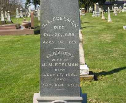 EDELMAN, J. M. - Marion County, Ohio | J. M. EDELMAN - Ohio Gravestone Photos