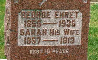 EHRET, GEORGE - Marion County, Ohio | GEORGE EHRET - Ohio Gravestone Photos