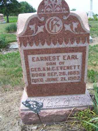 EVERETT, EARNEST EARL - Marion County, Ohio | EARNEST EARL EVERETT - Ohio Gravestone Photos