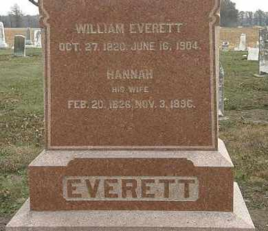 EVERETT, HANNAH - Marion County, Ohio | HANNAH EVERETT - Ohio Gravestone Photos