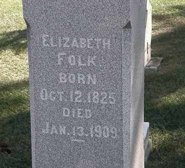 FOLK, ELIZABETH - Marion County, Ohio | ELIZABETH FOLK - Ohio Gravestone Photos