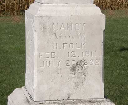 FOLK, NANCY - Marion County, Ohio | NANCY FOLK - Ohio Gravestone Photos