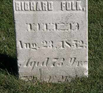 FOLK, RICHARD - Marion County, Ohio | RICHARD FOLK - Ohio Gravestone Photos