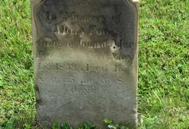 FOOS, MARY - Marion County, Ohio | MARY FOOS - Ohio Gravestone Photos