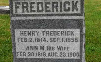 FREDERICK, ANN M. - Marion County, Ohio | ANN M. FREDERICK - Ohio Gravestone Photos
