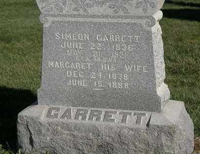 GARRETT, SIMEON - Marion County, Ohio | SIMEON GARRETT - Ohio Gravestone Photos