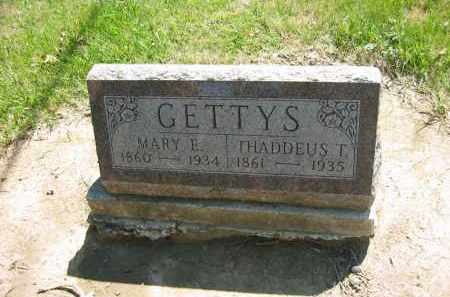 GETTYS, THADDEUS T. - Marion County, Ohio | THADDEUS T. GETTYS - Ohio Gravestone Photos