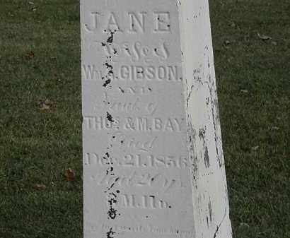 BAY GIBSON, JANE - Marion County, Ohio | JANE BAY GIBSON - Ohio Gravestone Photos
