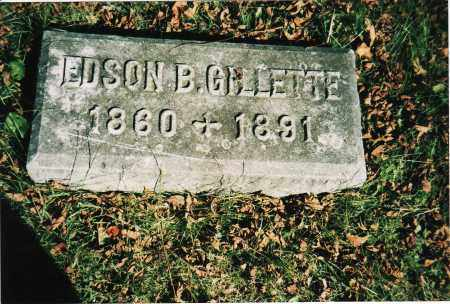 GILLETTE, EDSON B. - Marion County, Ohio | EDSON B. GILLETTE - Ohio Gravestone Photos