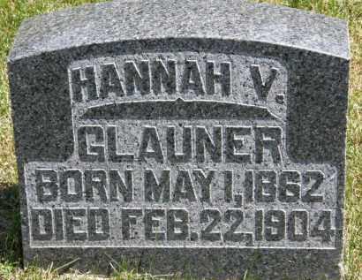 GLAUNER, HANNAH V. - Marion County, Ohio | HANNAH V. GLAUNER - Ohio Gravestone Photos