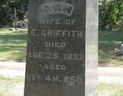 GRIFFITH, E. - Marion County, Ohio | E. GRIFFITH - Ohio Gravestone Photos