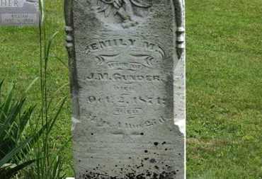 GUNDER, J. M. - Marion County, Ohio | J. M. GUNDER - Ohio Gravestone Photos