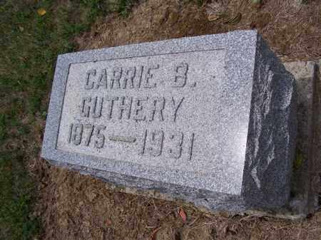 GUTHERY, CARRIE - Marion County, Ohio | CARRIE GUTHERY - Ohio Gravestone Photos