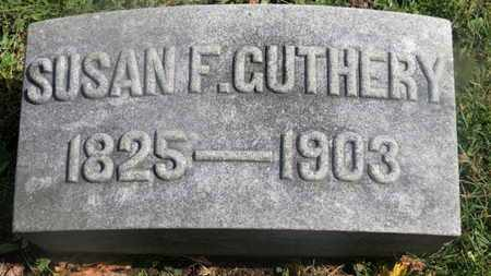 GUTHERY, SUSAN F. - Marion County, Ohio | SUSAN F. GUTHERY - Ohio Gravestone Photos