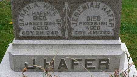 HAFER, SARAH A. - Marion County, Ohio | SARAH A. HAFER - Ohio Gravestone Photos