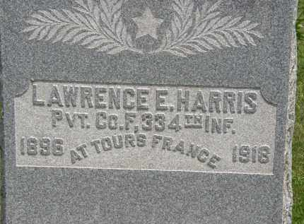 HARRIS, LAWRENCE E. - Marion County, Ohio | LAWRENCE E. HARRIS - Ohio Gravestone Photos