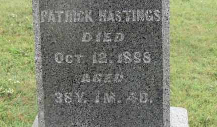 HASTINGS, PATRICK - Marion County, Ohio | PATRICK HASTINGS - Ohio Gravestone Photos