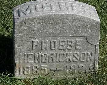 HENDRICKSON, PHOEBE - Marion County, Ohio | PHOEBE HENDRICKSON - Ohio Gravestone Photos