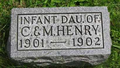HENRY, INFANT DAU. - Marion County, Ohio | INFANT DAU. HENRY - Ohio Gravestone Photos