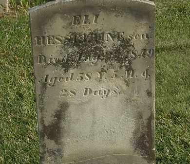 HESSELTINE, ELI SEN. - Marion County, Ohio | ELI SEN. HESSELTINE - Ohio Gravestone Photos