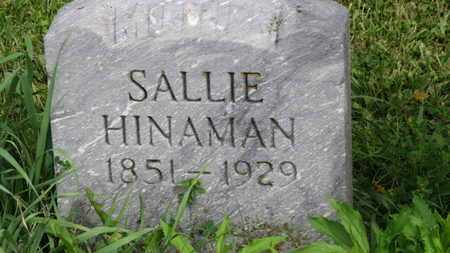 HINAMAN, SALLIE - Marion County, Ohio | SALLIE HINAMAN - Ohio Gravestone Photos