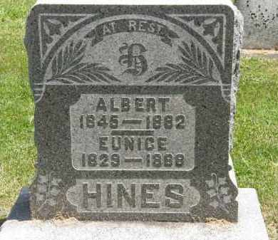 HINES, EUNICE - Marion County, Ohio | EUNICE HINES - Ohio Gravestone Photos