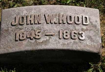 HOOD, JOHN W. - Marion County, Ohio | JOHN W. HOOD - Ohio Gravestone Photos