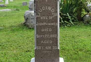 HUMMER, LUCINDA - Marion County, Ohio | LUCINDA HUMMER - Ohio Gravestone Photos
