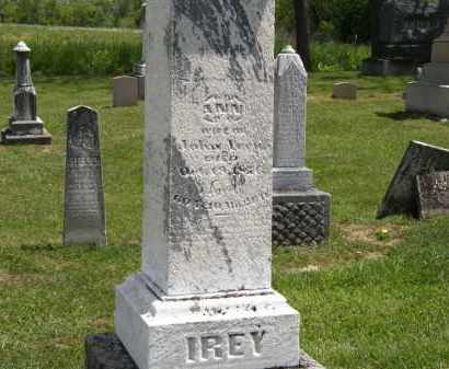 IREY, ANN - Marion County, Ohio | ANN IREY - Ohio Gravestone Photos