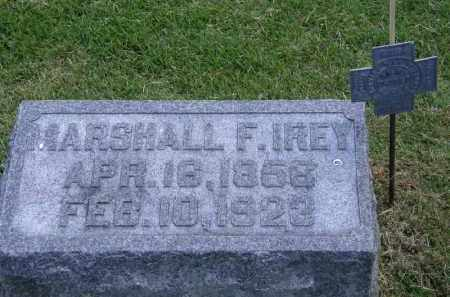 IREY, MARSHALL F. - Marion County, Ohio | MARSHALL F. IREY - Ohio Gravestone Photos