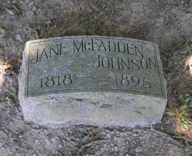 MCFADDEN JOHNSON, JANE - Marion County, Ohio | JANE MCFADDEN JOHNSON - Ohio Gravestone Photos