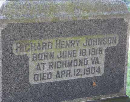 JOHNSON, RICHARD HENRY - Marion County, Ohio | RICHARD HENRY JOHNSON - Ohio Gravestone Photos