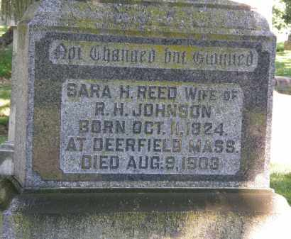 JOHNSON, SARA H. - Marion County, Ohio | SARA H. JOHNSON - Ohio Gravestone Photos