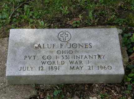 JONES, ALUF F. - Marion County, Ohio | ALUF F. JONES - Ohio Gravestone Photos