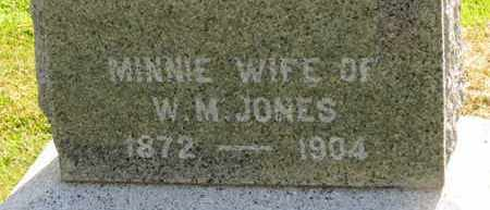 JONES, MINNIE - Marion County, Ohio | MINNIE JONES - Ohio Gravestone Photos