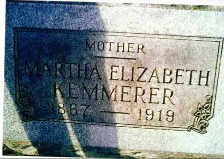 KEMMERER, MARTHA - Marion County, Ohio | MARTHA KEMMERER - Ohio Gravestone Photos